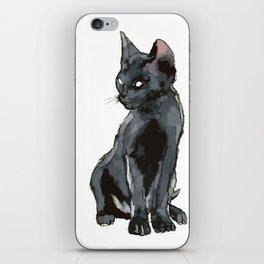 Black Vector Cat iPhone Skin