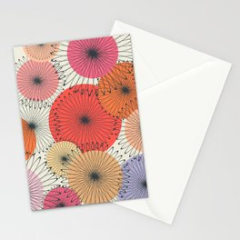 Spiral Flowers Stationery Cards