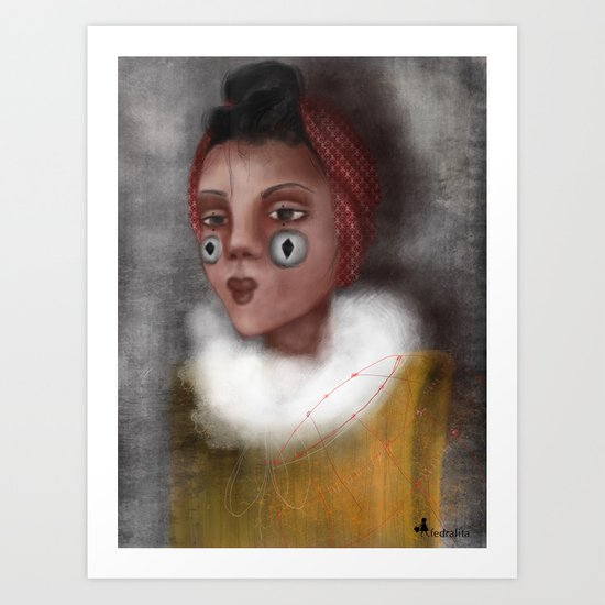 Paulina, the Clown Art Print