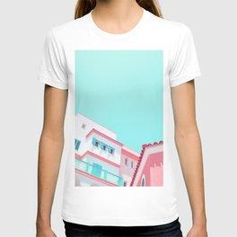 Blush & Turquoise Facade T-shirt