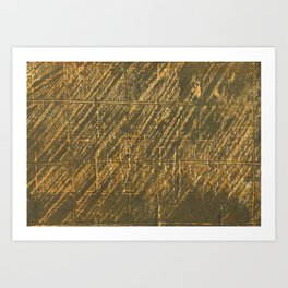 Brown painting abstraction Art Print
