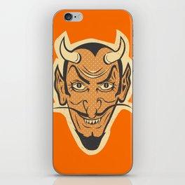 Retro Creepy Halloween Devil Mask Face iPhone Skin