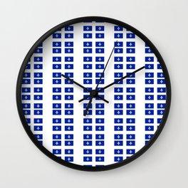 Flag of quebec 3– Canada, montreal,Saint Laurent,Quebecois,belle province, trois rivières. Wall Clock