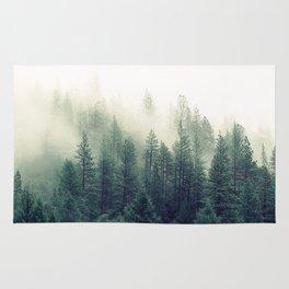 Foggy Winter Forest Rug