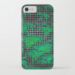 Fern Grid Plant Wall iPhone Case