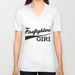 Fire Fighters Girl Unisex V-Neck