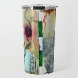 Botanical collage Travel Mug
