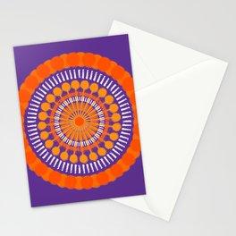 Rough Orange Mandala Stationery Cards