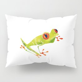 Red Eyed Tree Frog Pillow Sham