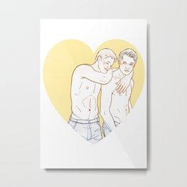 DeanCas Heart Hug (Yellow) Metal Print