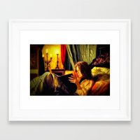 literature Framed Art Prints featuring Candlelit Literature by DigitalAndPhoto