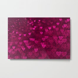 Valentine's Day | Romantic Crimson Galaxy | Universe of pink purple hearts Metal Print