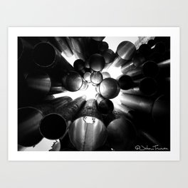 Pipelines Art Print