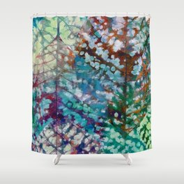 Colorful leaves II Shower Curtain