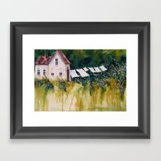 old homestead Framed Art Print