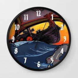 Scandinavia Land of the Vikings - Vintage Travel Wall Clock