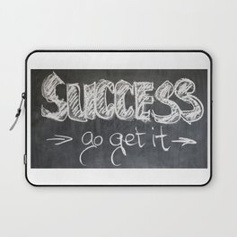 Success Quote (Inspirational) Laptop Sleeve