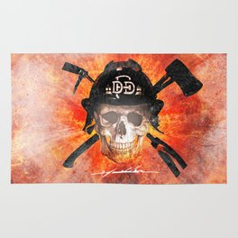 Dallas Fire Dept. - Skull and Irons Rug