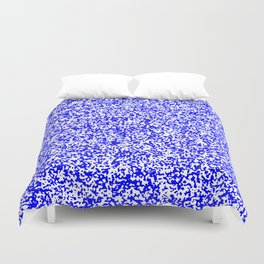 Tiny Spots - White and Blue Duvet Cover