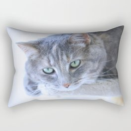Aqua Eyes Rectangular Pillow