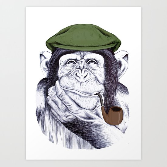 Wise Mr. Chimp Art Print