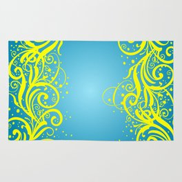 Abstract blue-yellow background Rug