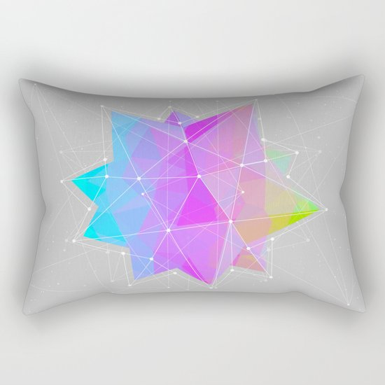The Dots Will Somehow Connect (Geometric Star) Rectangular Pillow