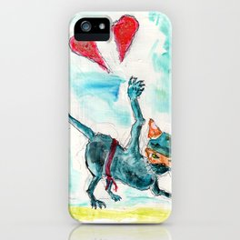 Ninja Cat Hates Love. iPhone Case