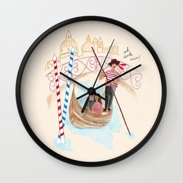 O Sole Mio! Wall Clock