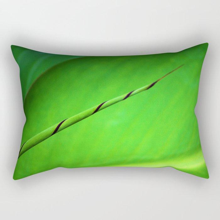 Canna Leaf Spiral Twist Rectangular Pillow