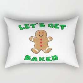 Christmas Gingerbread Let's get baked Rectangular Pillow
