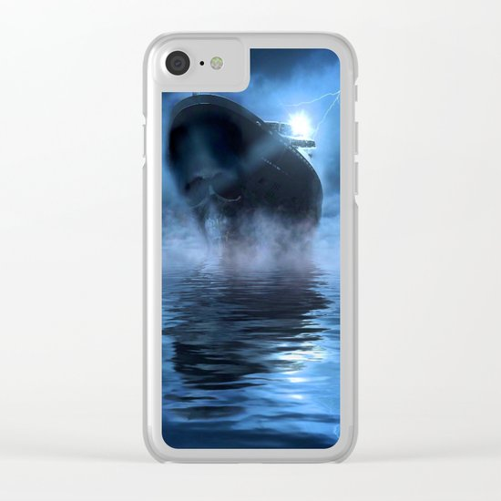 Ghost Ship Guided by Star Clear iPhone Case