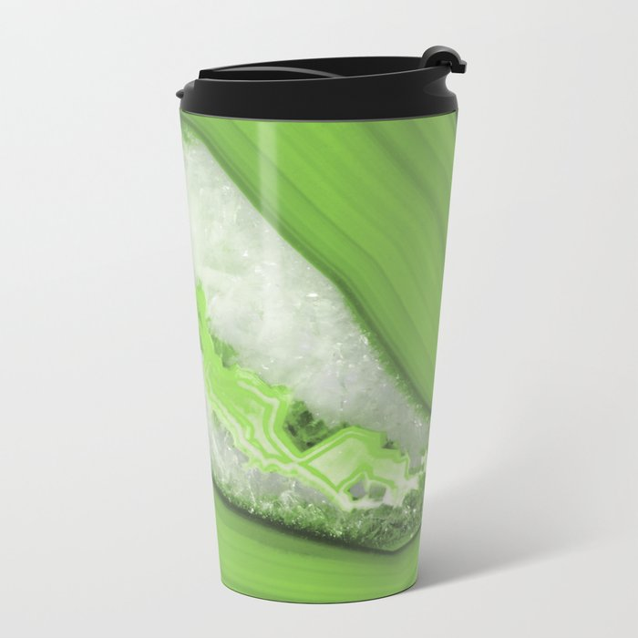 Greenery Agate Metal Travel Mug