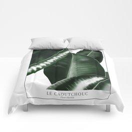 Big leaves white Comforters