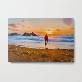 Into The Sunsets Metal Print