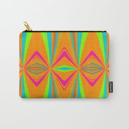 orange pink blue green symmetry art abstract background Carry-All Pouch