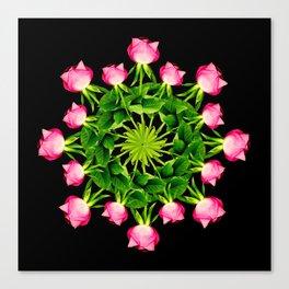Wheel of Roses Canvas Print