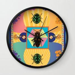 Embryonic Beetle Roach Milk Wall Clock
