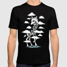 Wandering Giraffe Mens Fitted Tee Black MEDIUM