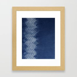 Shibori Chevron Stripe Framed Art Print