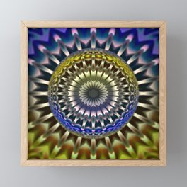 Focus mandala Framed Mini Art Print