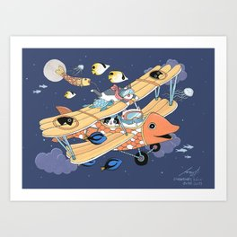 The Flying Night Art Print