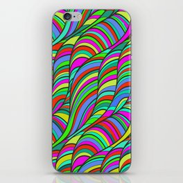 waves of colors  iPhone Skin