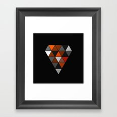 Metallic Diamond Framed Art Print