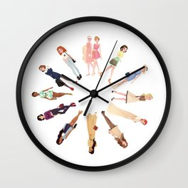 Trendy Princesses Wall Clock