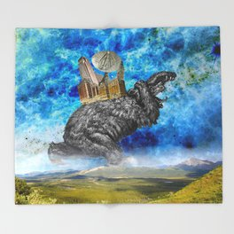 Hugo the giant Bear Throw Blanket
