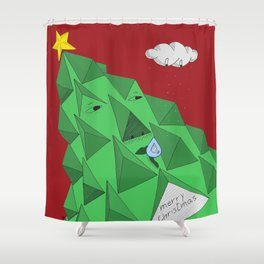 christmas pine Shower Curtain