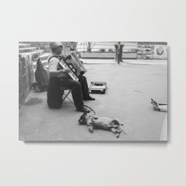 Street Performance Metal Print