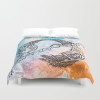 daria Duvet Covers featuring mermaid by Dar'ya Vlasova