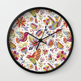 Otomi folk Wall Clock